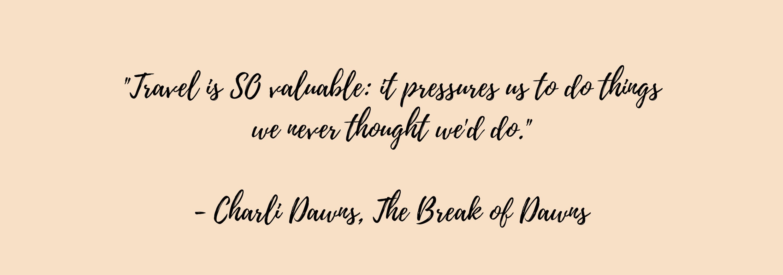 The break of dawns interview