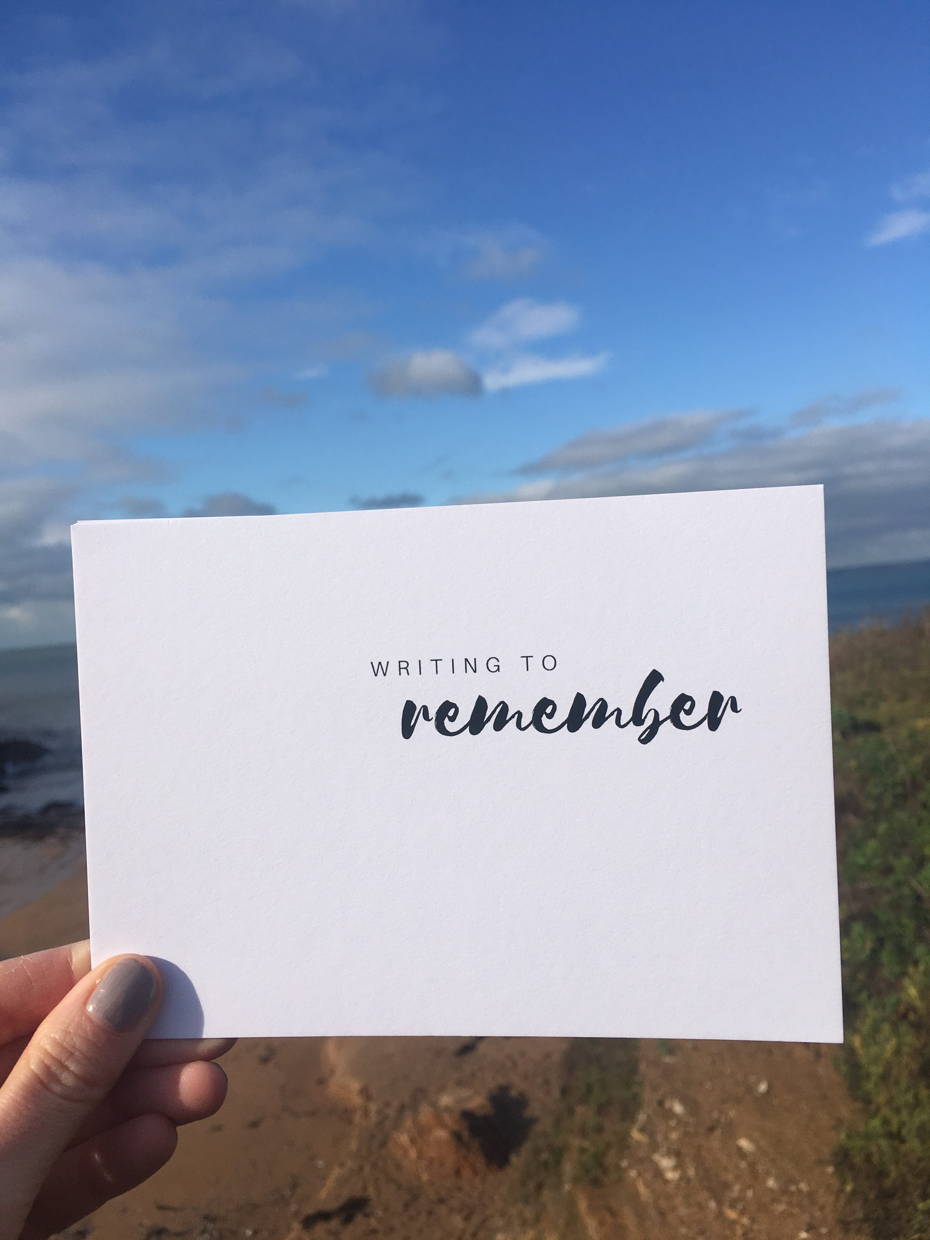 Writing to remember - Reflection Postcards